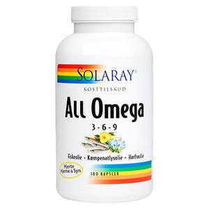 Solaray All Omega 3-6-9 - 180 kapsler