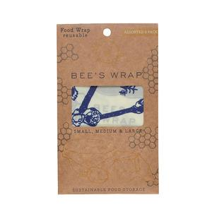 "Bee's wrap 3-pack Assorted ""Bee's & Bears""  small/medium/large"
