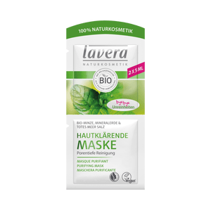 Lavera Faces Purifying Mask Mint - 2x5 ml